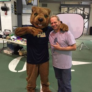 Bob with the Pitt Panther