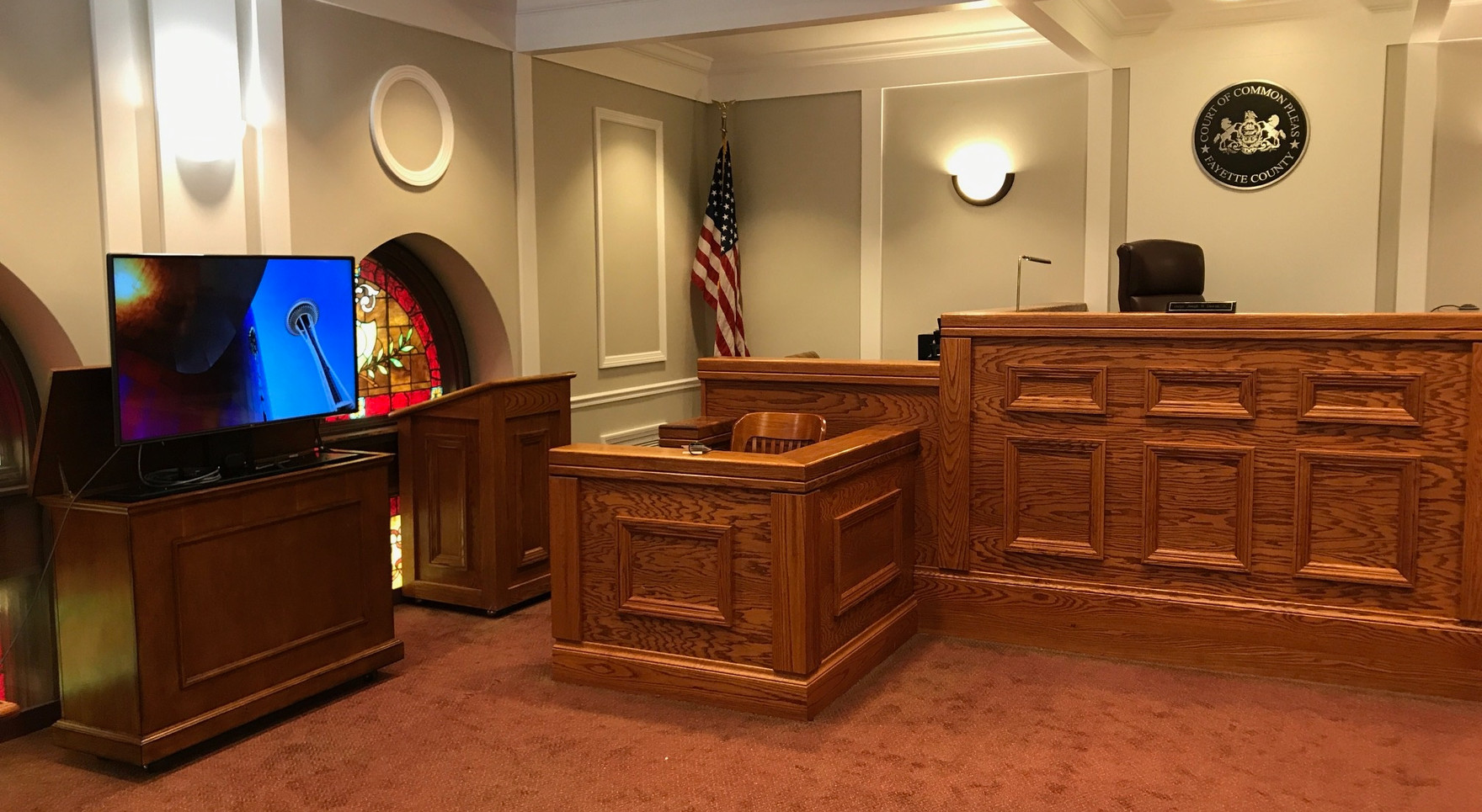 Multimedia Credenza at Fayette County Court
