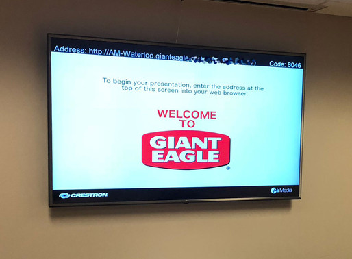 Dagostino Electronic Service brings wireless presentation technology to Giant Eagle