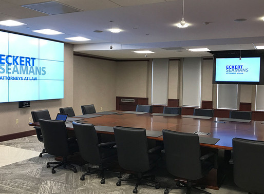 A look at Eckert Seamans' newly redesigned boardroom