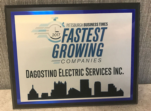 Dagostino Electronic Services on Pittsburgh's fastest growing list again in 2017