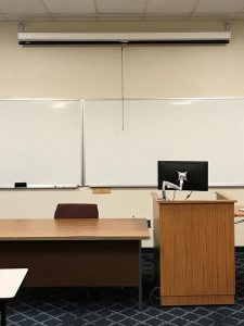 Mercyhurst University classroom