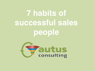 7 habits of successful salespeople that are being ignored by the average sales rep
