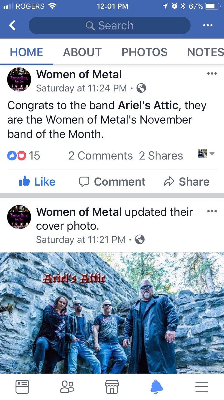 Women of Metal band of the month