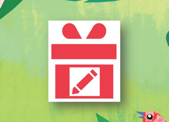 Option papier cadeau et message personnalisé