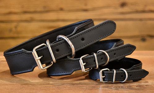 Halsband schwarz silber