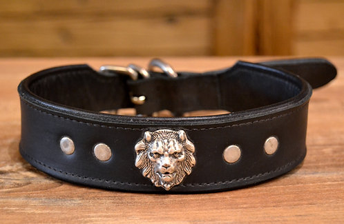 Halsband schwarz Löwe