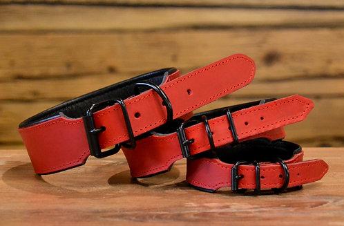 Halsband rot-schwarz