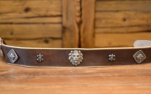 Halsband braun Löwe-Edel