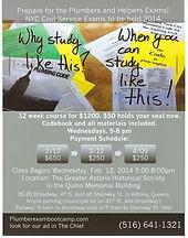 Plumber Exam Boot Camp flyer