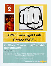 Fitter Exam Fight Club flyer