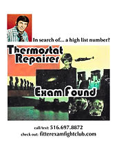 Thermosatat Repairer Exam Found flyer