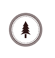 Tree Badge White