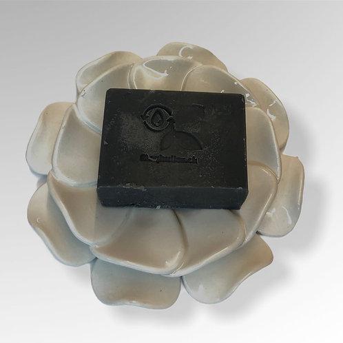 "Porte savon céramique ""La Fleur blanc"""