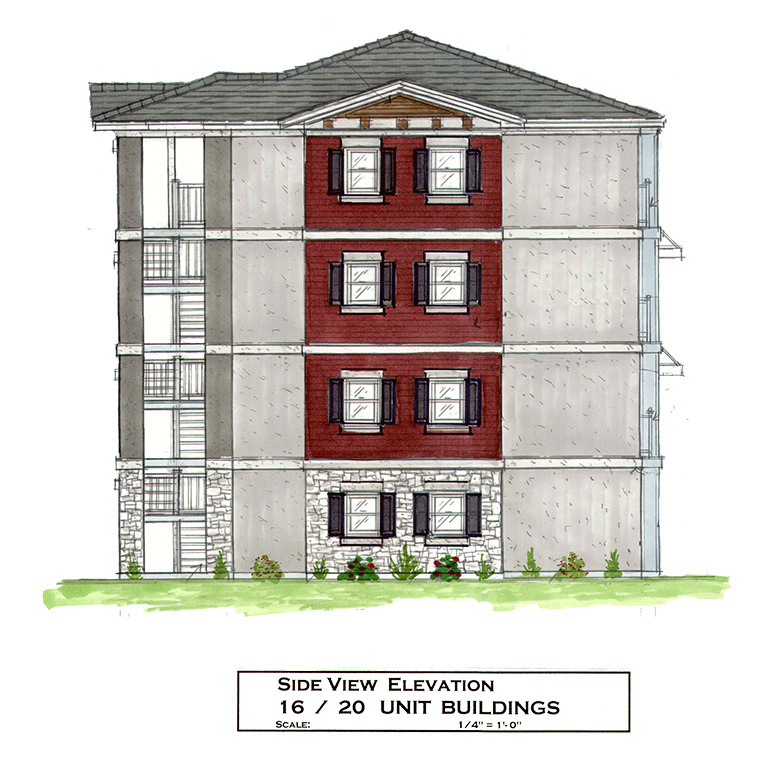 4-Story Building - Side View