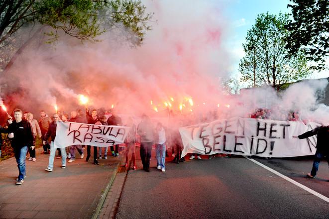 Royal Antwerp protest