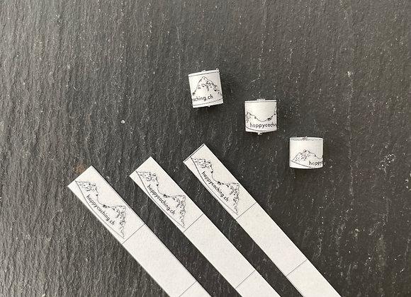 3 x wasserfeste Nano Logbücher | gerollt