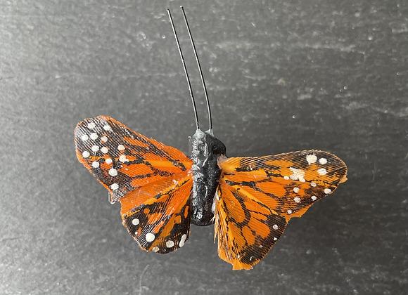 Schmetterling mit Nanocachebehälter, magnetisch
