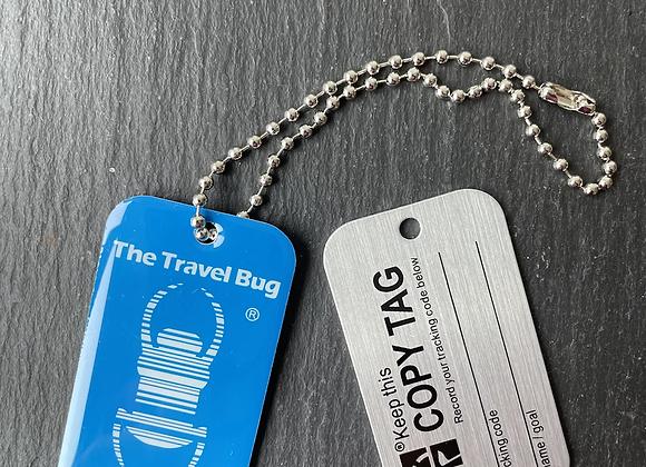 Glow in the Dark Travel Bug blau
