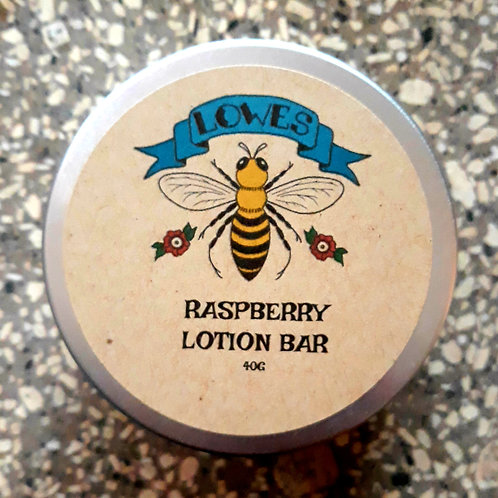Raspberry Lotion Bar 40g