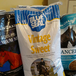 Bag of Blue Seal Vintage Sweet horse feed