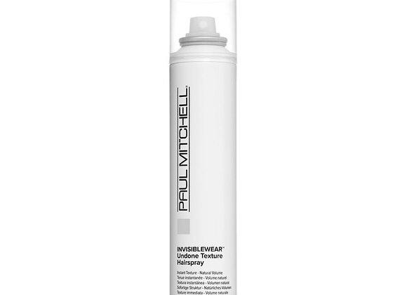 Undone texture hairspray