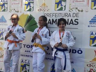 Judô de Jaguariúna novamente desponta com três medalhas de Prata e duas de Bronze no 2º Torneio da A