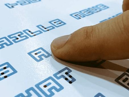 Designer cria tipografia que une escrita Braille com a tradicional