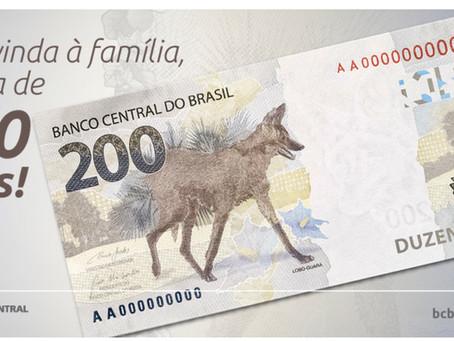 Banco Central apresenta cédula de R$ 200 reais