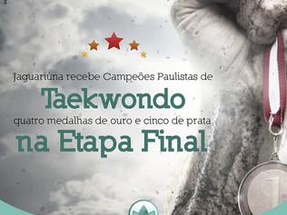 Jaguariúna recebe Campeões Paulistas de Taekwondo, quatro medalhas de ouro e cinco de prata na Etapa