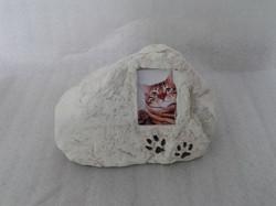 Urna pedra com foto