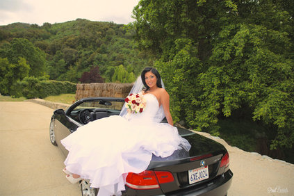 Awesome Bride and car