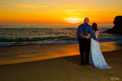 Sunset Laguna Beach Wedding