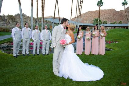Palm Springs Wedding kiss