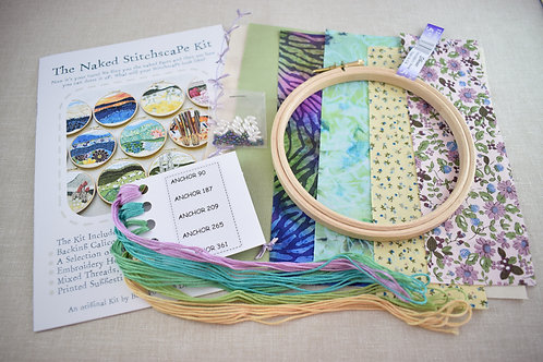 The Naked Stitchscape Embroidery Kit: Magic Dust Combo