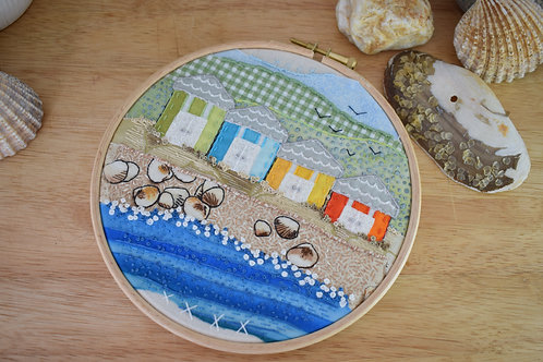 Beach Huts Original Stitchscape