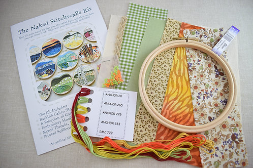 The Naked Stitchscape Embroidery Kit: Autumn Fall Combo