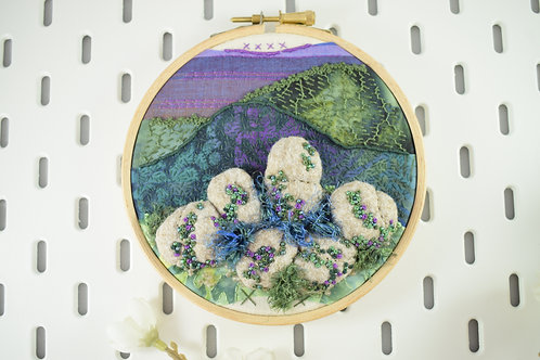Amethyst Crag Original Stitchscape