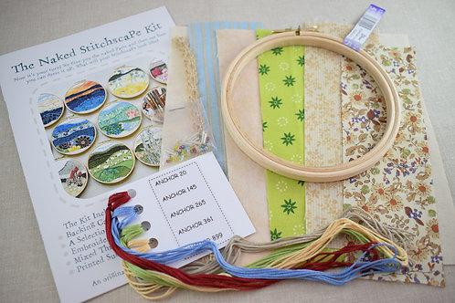 The Naked Stitchscape Embroidery Kit: Sandy Bay Combo