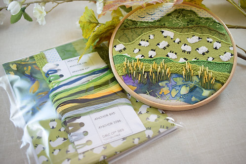 Woollydale II Stitchscape Embroidery Kit