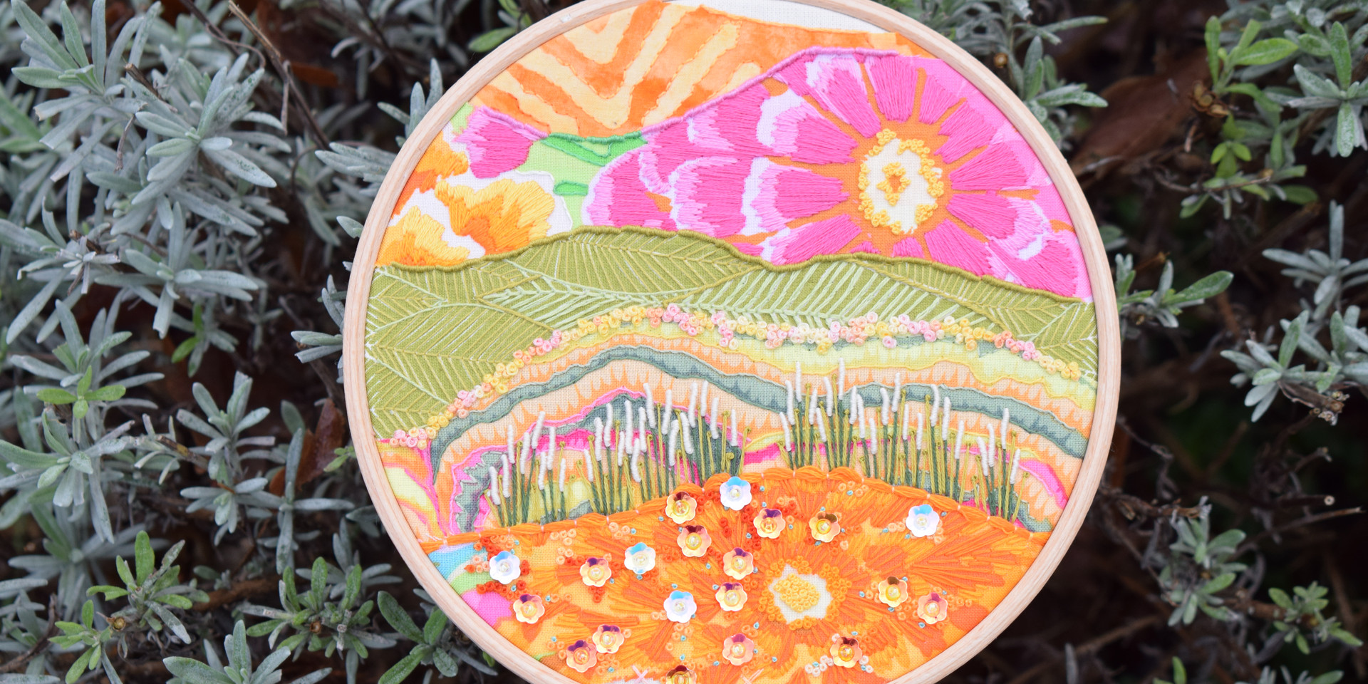 Candy Mountain Stitchscape