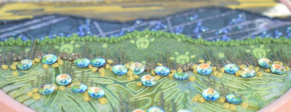 Shiny Green Stitchscape