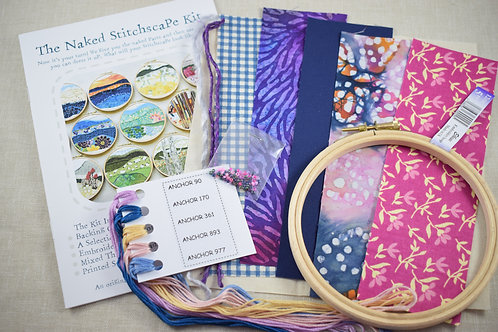 The Naked Stitchscape Embroidery Kit: Twilight Combo