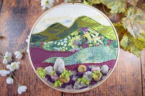Heather Valley Original Stitchscape