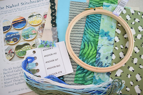 The Naked Stitchscape Embroidery Kit: Herdwick Combo