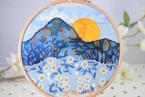 Moon Rising Original Stitchscape