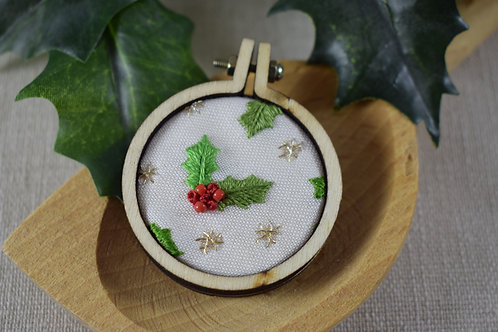 Hand Embroidered Midi Hoop Circle Magnet