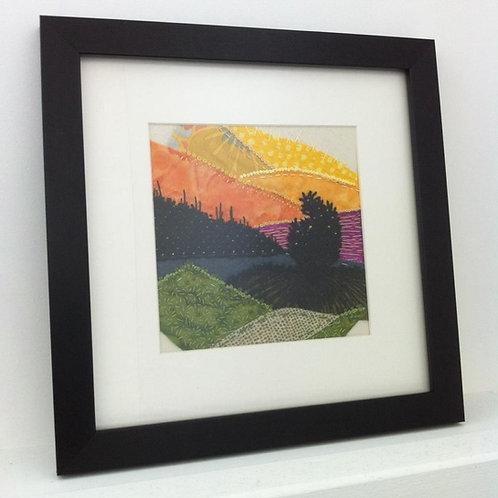 Sunset Mountains Mounted Print