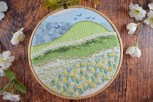 Daffodils Original Stitchscape
