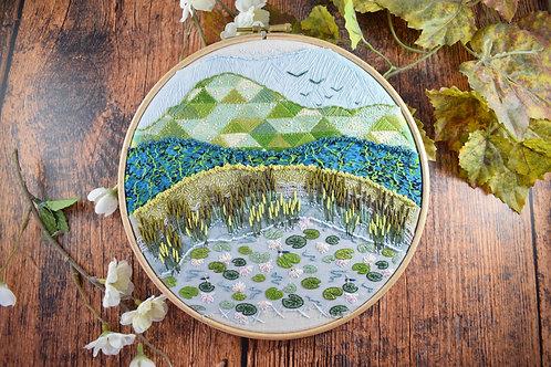 Waterlilies Original Stitchscape